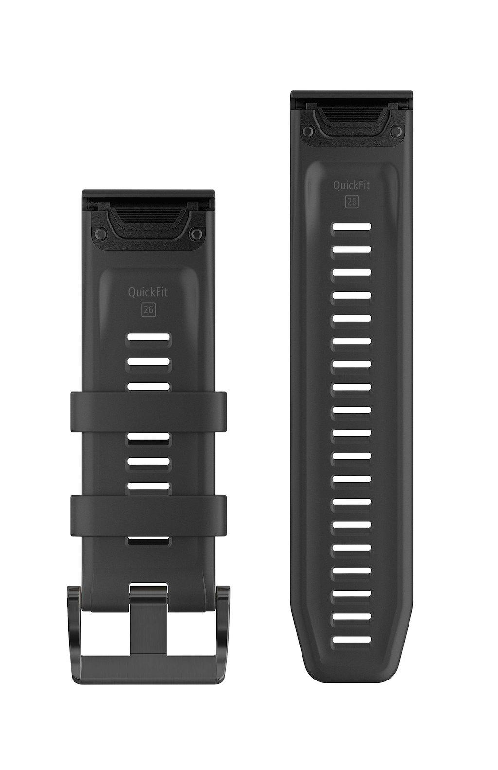 Acc,fenix 5 Plus 22mm QuickFit Black Silicone Band
