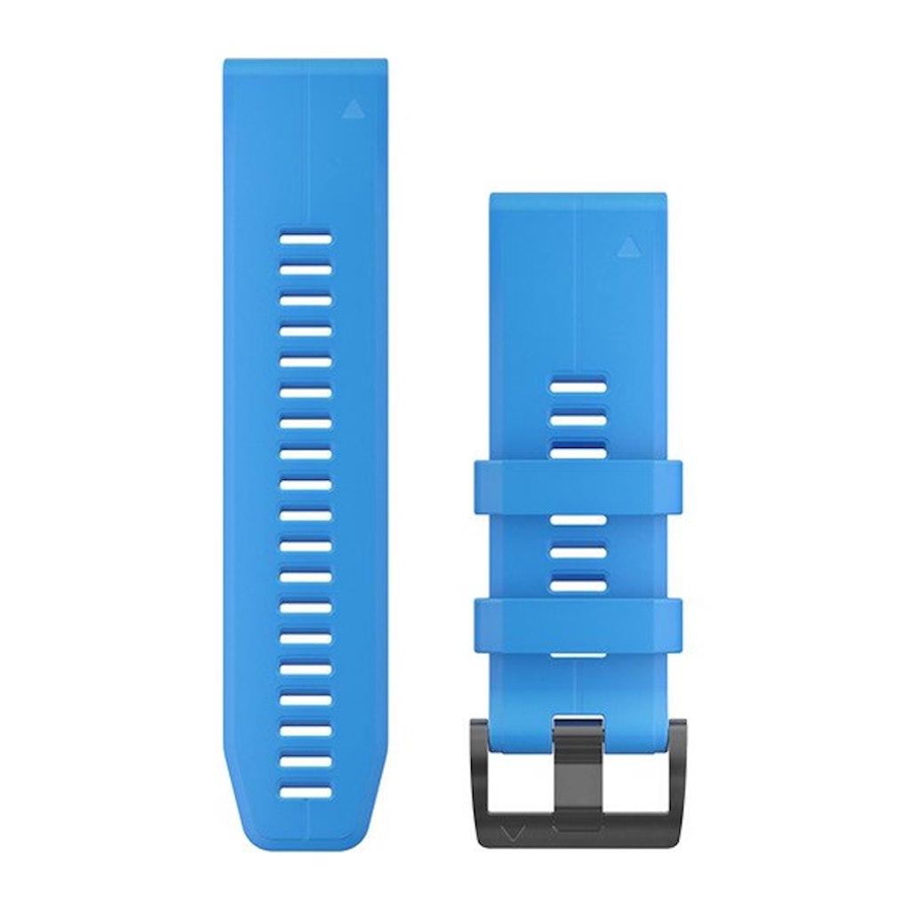 Acc,fenix 5X Plus 26mm QuickFit Cyan Blue Silicone Band