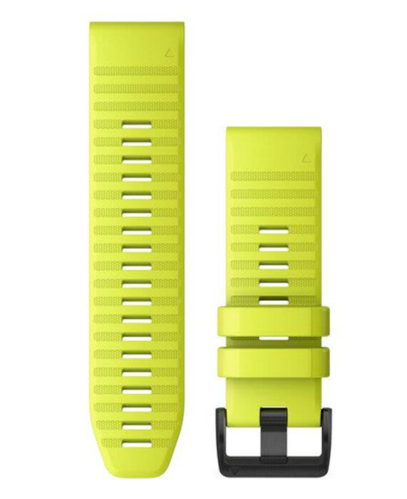 Acc,fenix 6X 26mm QuickFit Amp Yellow Silicone Band